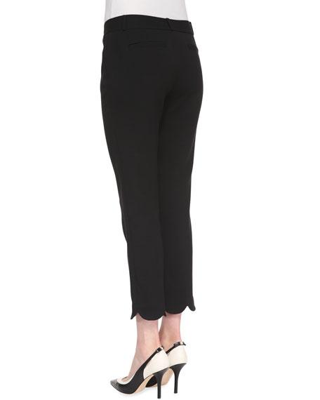 jackie scalloped capri pants