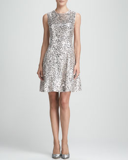 kate spade new york emma sequined fit-&-flare dress