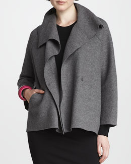 Eileen Fisher Wool Shawl Coat, Petite