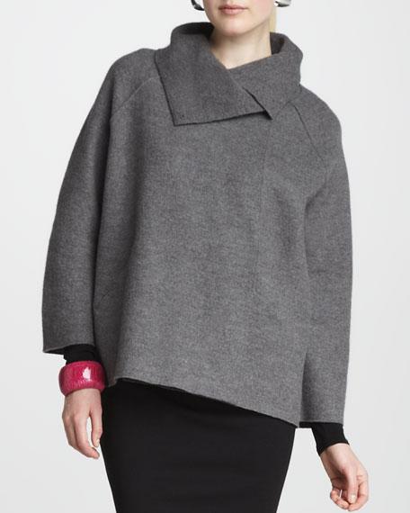 Wool Shawl Coat, Women's