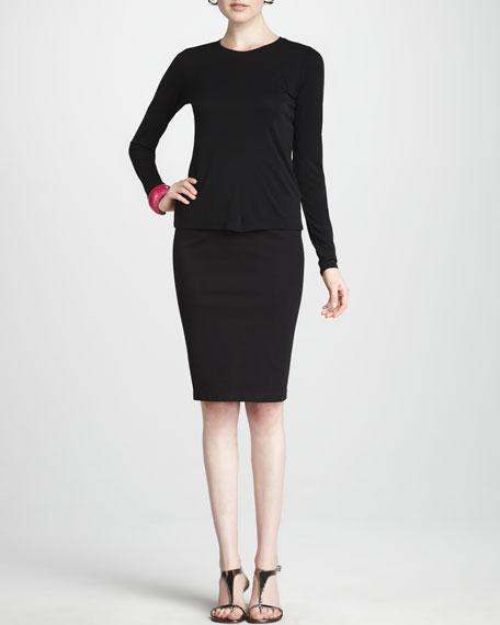 Ponte Jersey Pencil Skirt