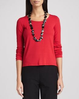 Eileen Fisher Jersey Long-Sleeve Tee, Women's