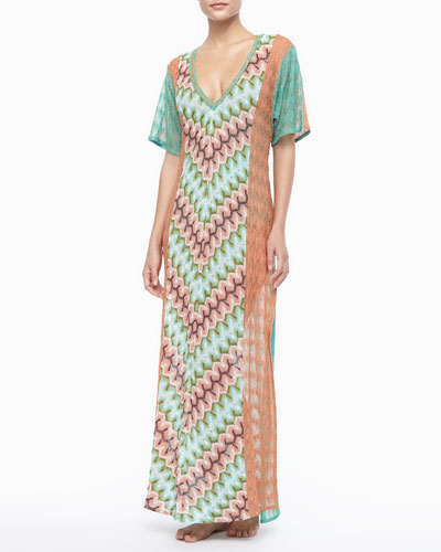 Missoni Long Patterned Coverup Dress