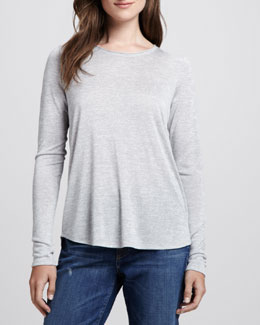 Vince Long-Sleeve Slub Top