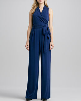 Catherine Malandrino Favorites Wrap-Front Jumpsuit