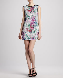Phoebe Couture Floral-Print Cutout-Back Dress