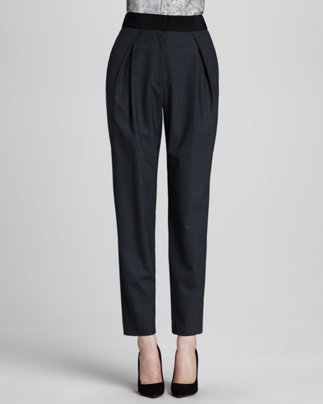 Straight-Leg Crepe Trousers