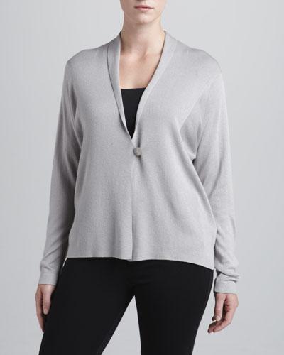 Armani Collezioni One-Button Pullover Cashmere Cardigan