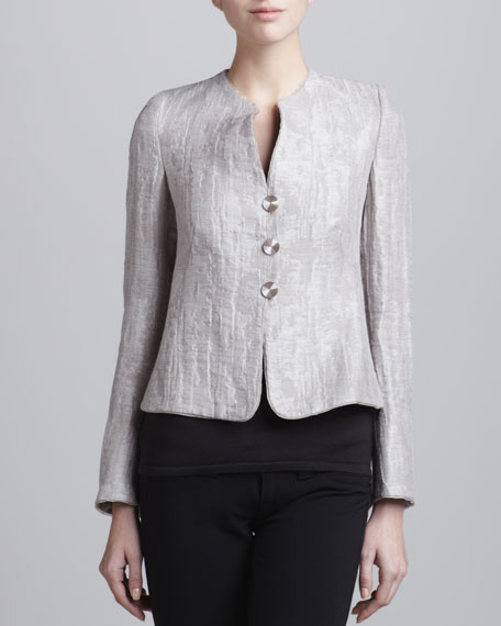 Jacquard Three-Button Jacket
