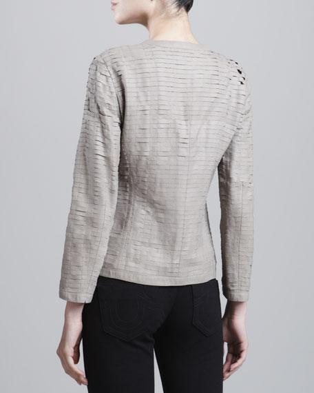 Tier-Paneled Lambskin Jacket