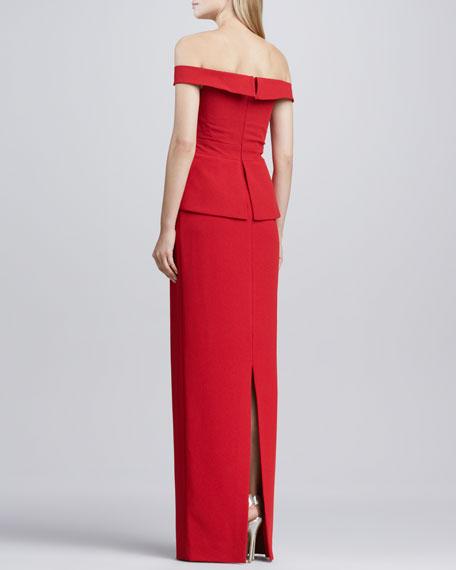 La Reina Off-The-Shoulder Gown