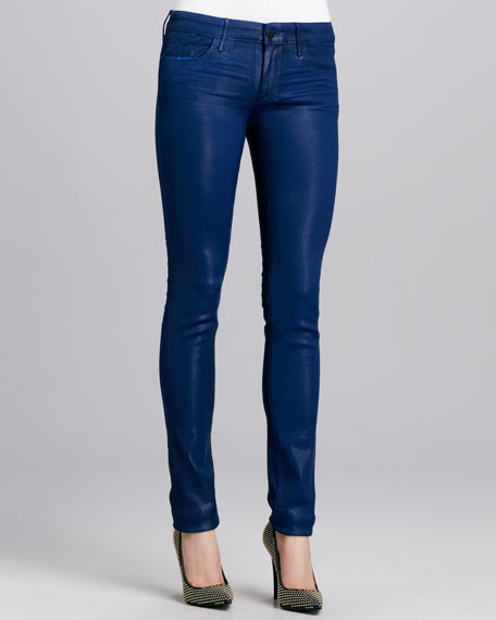 Alice Coated Skinny Jeans, Prussian Blue