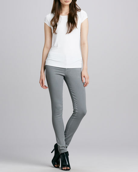 Eve High-Rise Skinny Jeans, Shale