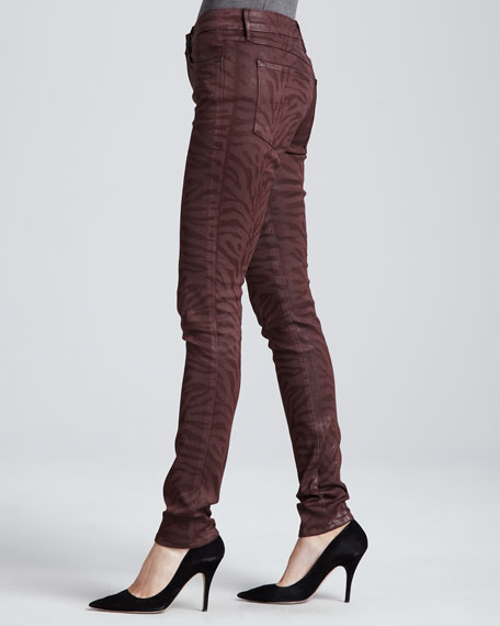 Eve Hi-Rise Skinny Jeans, Chianti Tiger