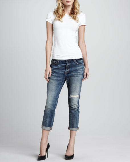 Melville Distressed Boyfriend Jeans