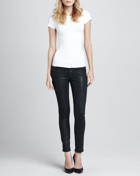 Florence Coated Skinny Ankle Jeans, Waterloo