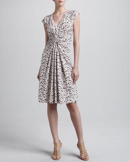 Petal Jersey Ruched Dress, Blush