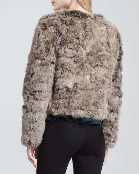 Luxor Cropped Rabbit Jacket