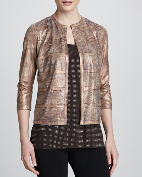 Reversible Faux-Leather Mezzo Jacket