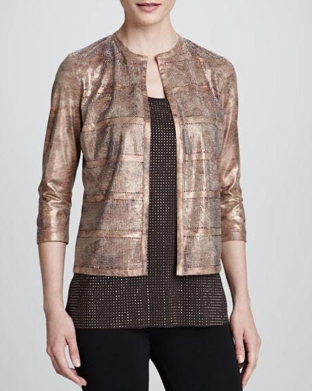 Reversible Faux-Leather Mezzo Jacket