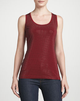 Grayse Grid Racerback Tank, Red