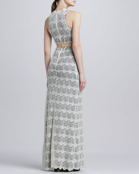 Katie Scalloped Lace Maxi Dress