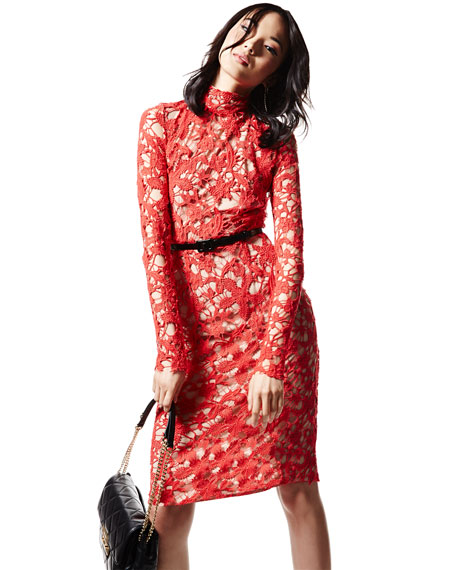 Marion Long-Sleeve Lace Dress