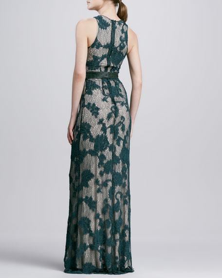 Katarina Belted Lace Maxi Dress