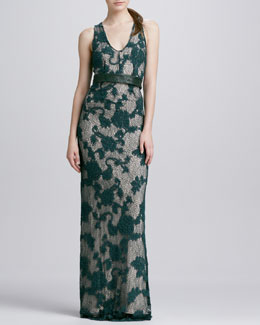 korovilas Katarina Belted Lace Maxi Dress