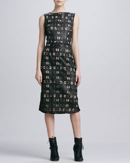 korovilas Emma Laser-Cut Sleeveless Dress