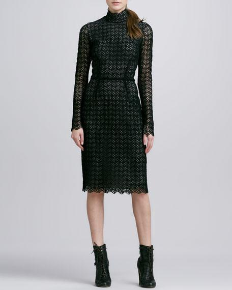 Valentina Long-Sleeve Lace Dress