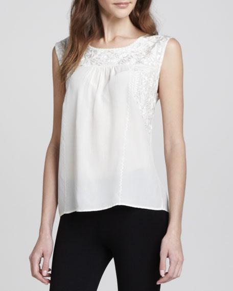 Alexei Embroidered Sleeveless Tank