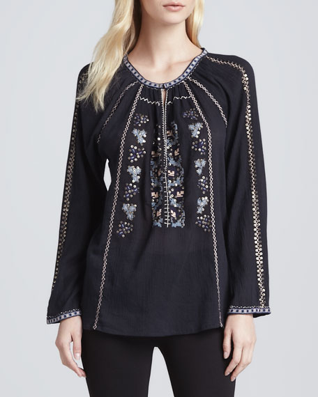 Chava Embroidered Cotton Top