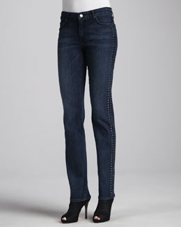 CJ by Cookie Johnson Faith Beaded Straight-Leg Jeans