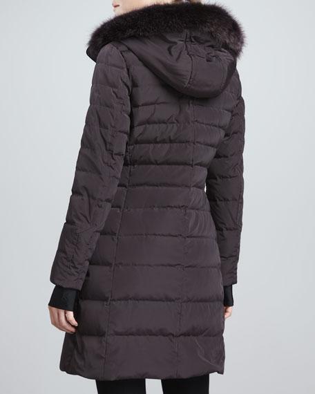 Ashley Puffer Jacket with Fur-Trim Hood