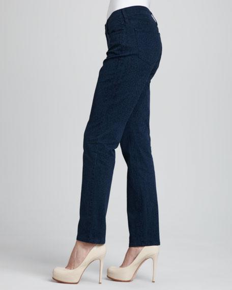 Sheri Heritage Cheetah-Print Skinny Pants, Petite