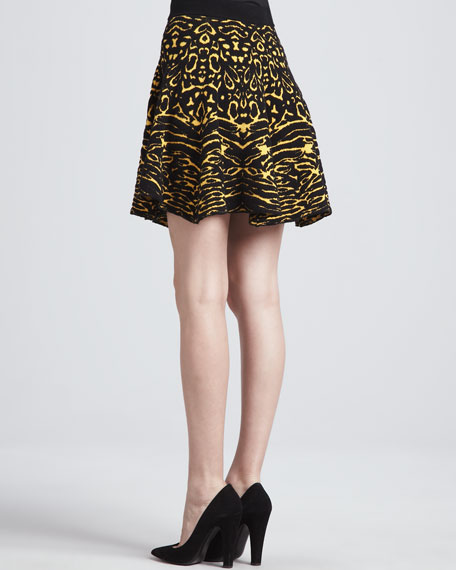 Anabella Animal-Print Skirt
