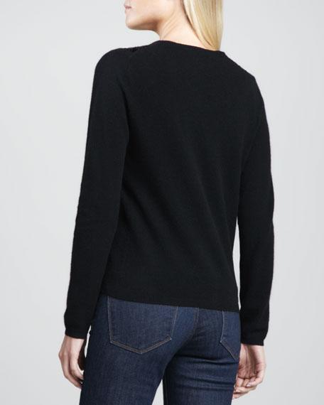 Sequin-Collar Cashmere Cardigan