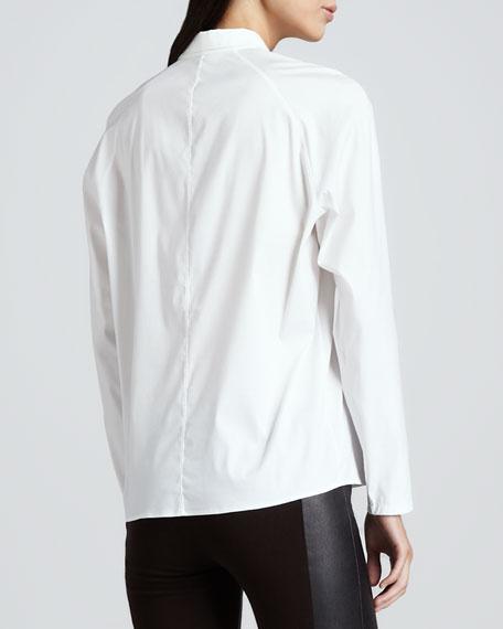 Bida Stretch Front-Zip Blouse