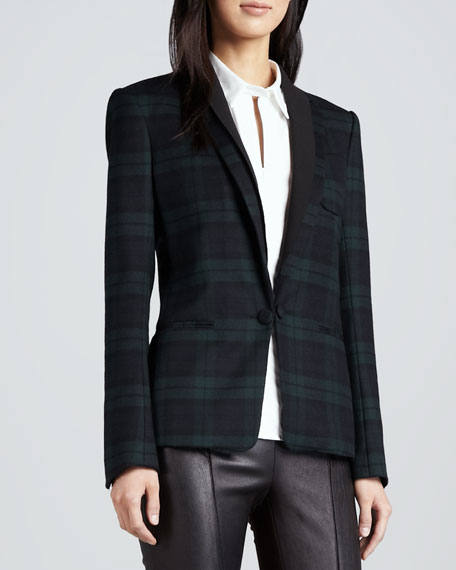 Donelly Plaid Felt Blazer