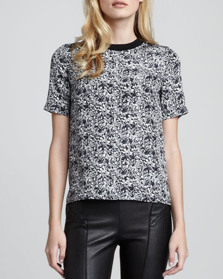 Klima Printed Silk Top