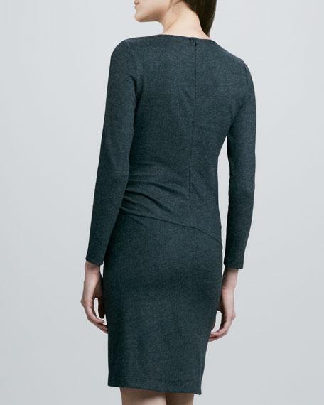 Jinsel Wrap-Front Slub Dress