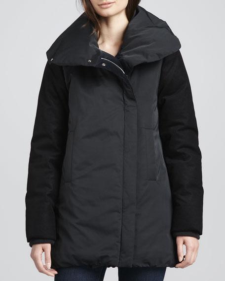 Briola Shawl-Collar Puffer Coat