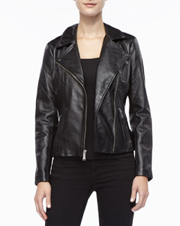 Neiman Marcus Leather Moto Jacket