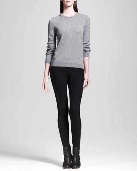 Van Dyke Leather-Stripe Leggings