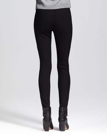 Van Dyke Leather-Stripe Leggings