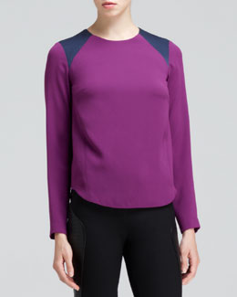 Rag & Bone Clemence Contrast-Shoulder Top
