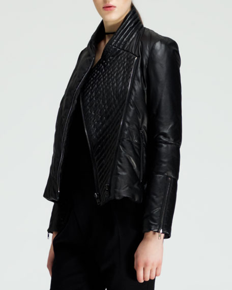 Pitch Quilted Leather Jacket
