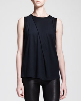 Helmut Lang Emission Asymmetric Pleat Top