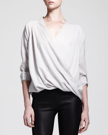 Render Crossover Tab Blouse